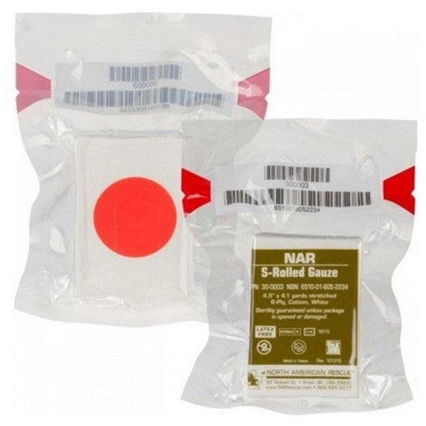 North American Rescue S-Rolled Gauze 11 cm x 3,75 m
