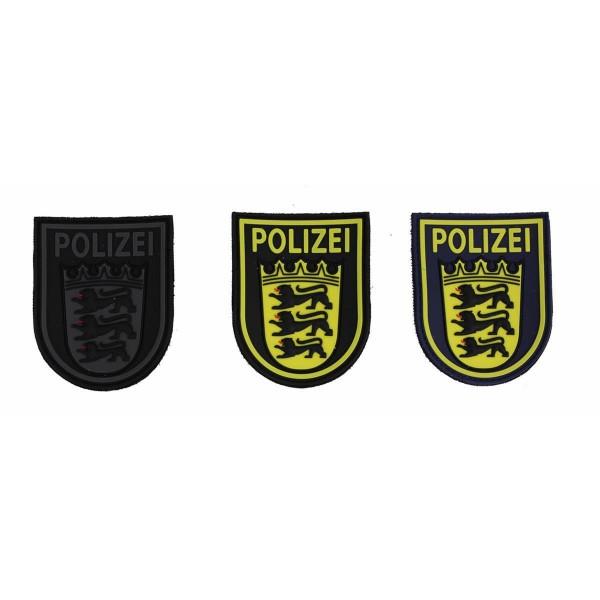 MRBS Rubber Ärmelabzeichen - Polizei Baden-Württemberg Patch - 9 x 7,2 cm