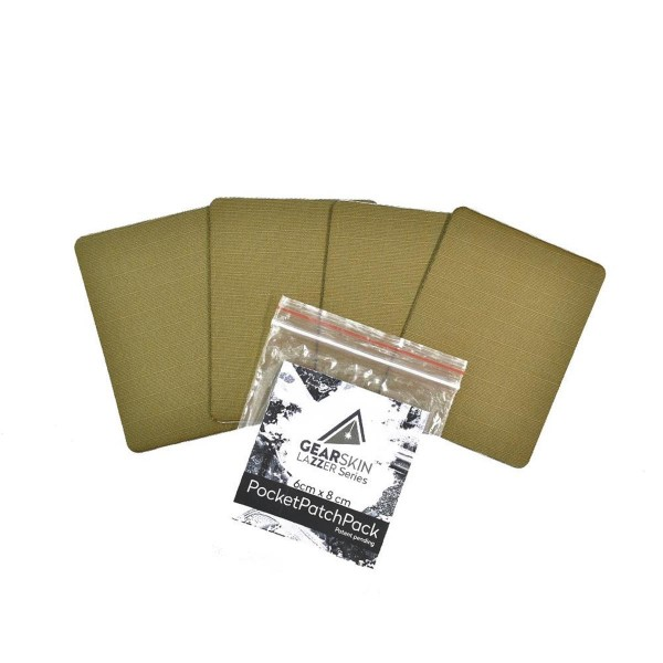 Gearskin Tarnfolie Pocket Patch Pack (6 x 8 cm, 4 Stück)