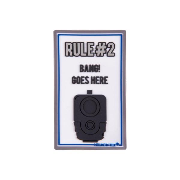 """Helikon Tex Rubberpatch """"Rule#2"""" - 7,5 x 4,5 cm"""