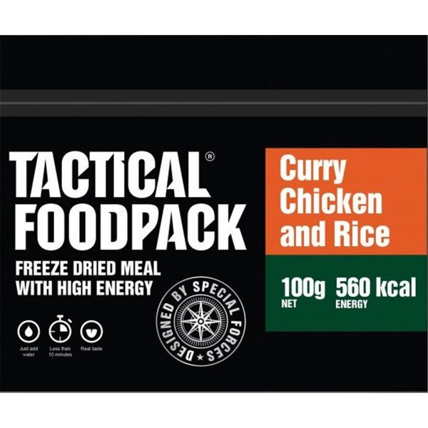 Tactical Foodpack Curry Chicken and Rice Hühnchen Curry und Reis