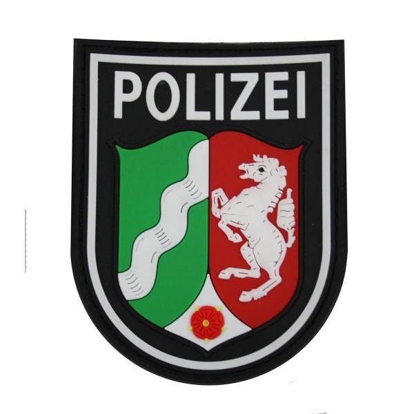 MRBS Rubber Ärmelabzeichen - Polizei Nordrhein-Westfalen Patch - 9 x 7,2 cm