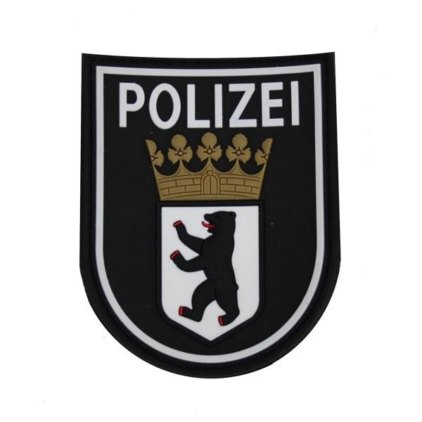 MRBS Rubber Ärmelabzeichen - Polizei Berlin Patch - 9 x 7,2 cm