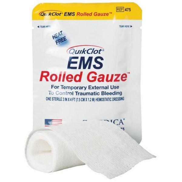 QuikClot EMS Rolled Gauze 7,6 cm x 1,22m