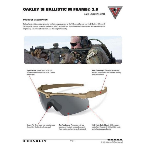 OAKLEY SI Ballistic M-Frame 3.0 Set