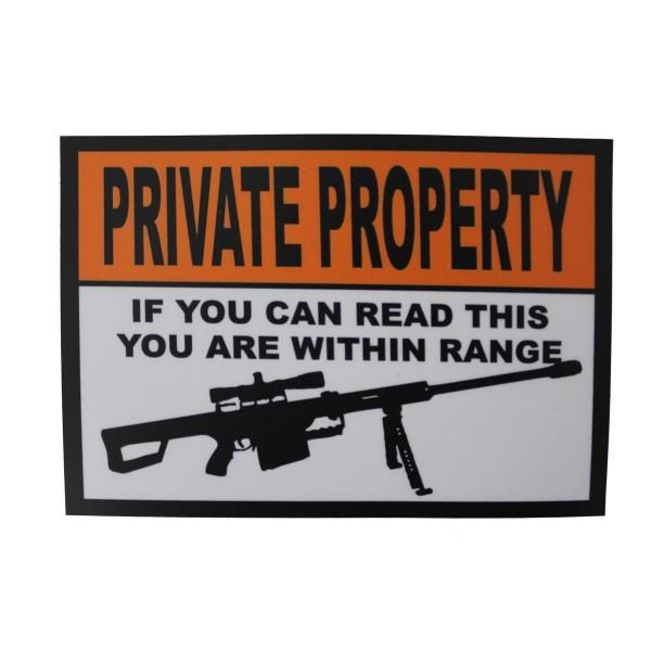 "CID Sticker Aufkleber ""Private Property"" - 14,5 x 10,5 cm"
