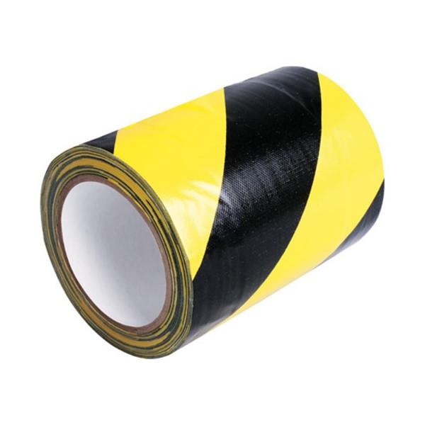 Tunneltape 150mm x 15m schwarz-gelb diagonal