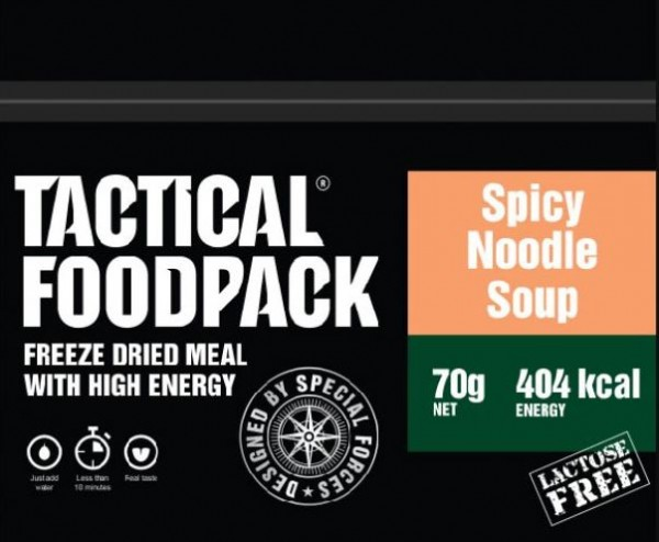 Tactical Foodpack Spicy Noodle Soup Scharfe Nudelsuppe