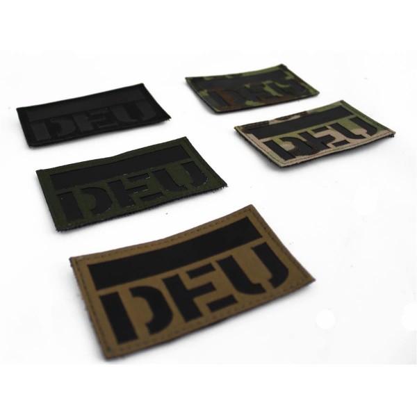CID IR / Infrarot Patch Lasercut mit DEU Schriftzug - 9 x 5 cm
