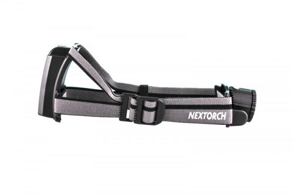 Nextorch myStar R Kopflampe 760 Lumen fokussierbar mit 3.000mAh Akku und Adapter für AA-Batterien