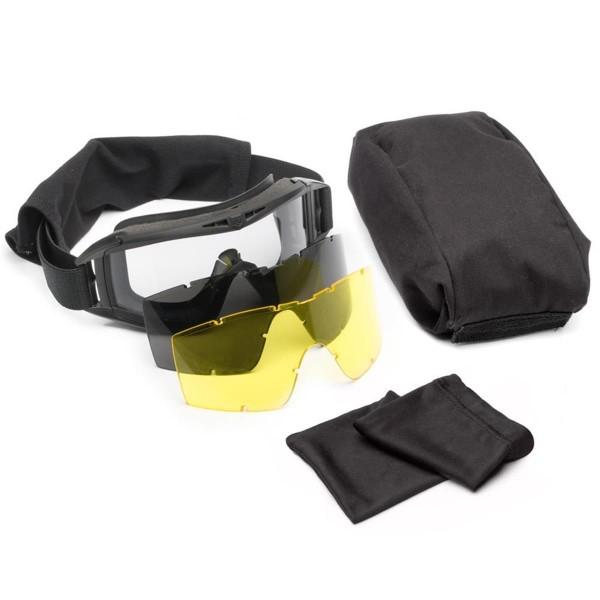 Revision ballistisches Vollschutzbrillensystem DESERT LOCUST Deluxe Kit