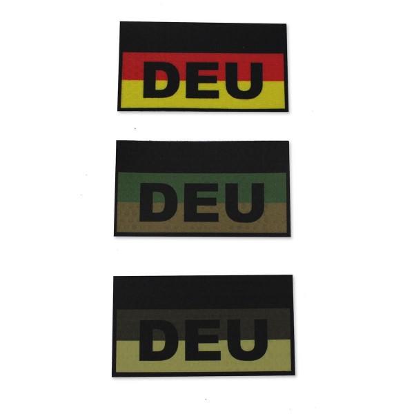 CID IR / Infrarot Patch mit DEU Schriftzug - 9 x 5 cm