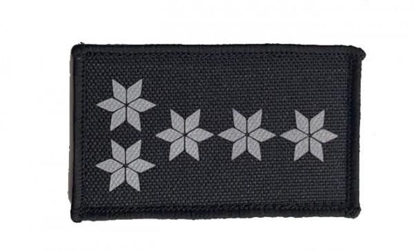 HCIM Patch Polizei Dienstgradabzeichen Polizeihauptkommissar (PHK, 5 silber/reflektierende Sterne) -