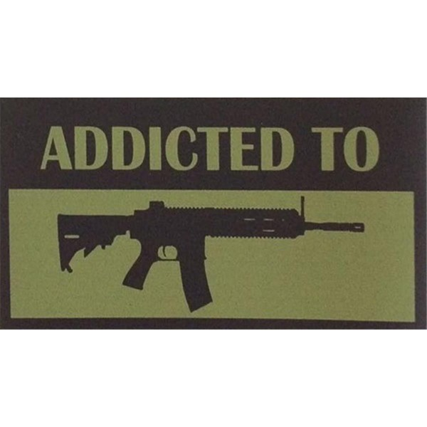 "CID Sticker Aufkleber ""Addicted to..."" - 14,5 x 10,5 cm"
