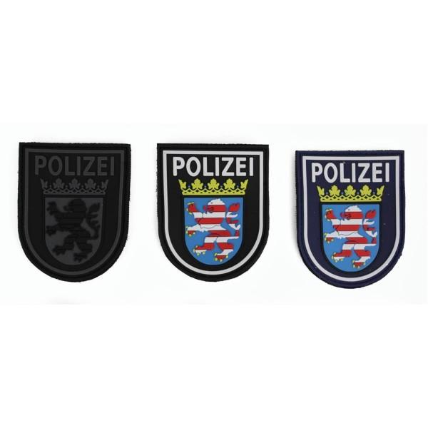 MRBS Rubber Ärmelabzeichen - Polizei Hessen Patch - 9 x 7,2 cm