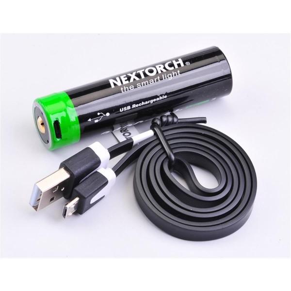Nextorch 3.6V 3400 mAh Li-ion Akku mit USB-Port und USB-Kabel