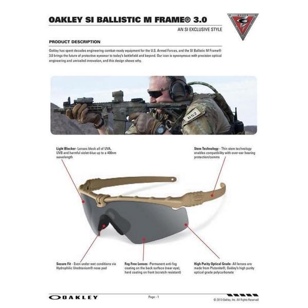 OAKLEY SI Ballistic M-Frame 3.0 Set Persimmon