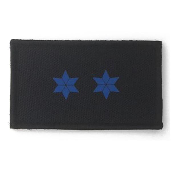 HCIM Patch Polizei Dienstgradabzeichen Polizeimeister (PM, 2 blaue Sterne) - 7,5 x 4,5 cm