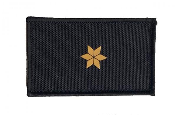HCIM Patch Polizei Dienstgradabzeichen Polizeirat (PR, 1 gelben Stern) - 7,5 x 4,5 cm