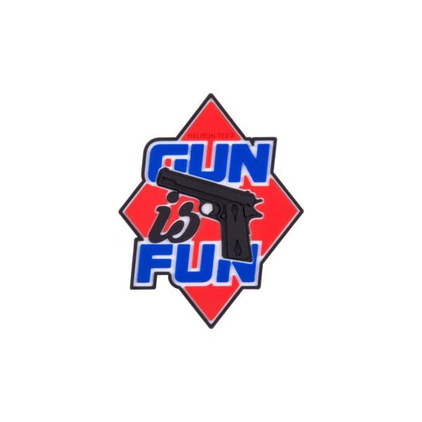 "Helikon Tex Rubber Patch ""Gun is fun"""