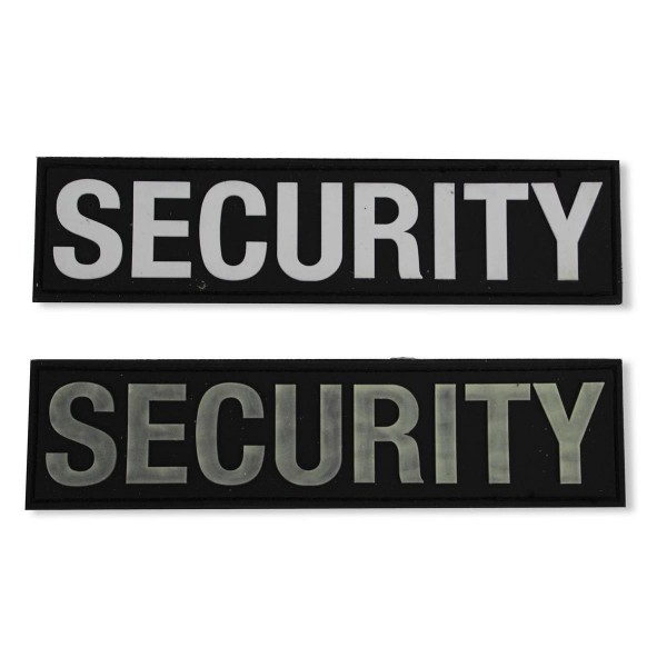 MRBS Rubber Abzeichen - SECURITY Patch - 16,8 x 4,2 cm