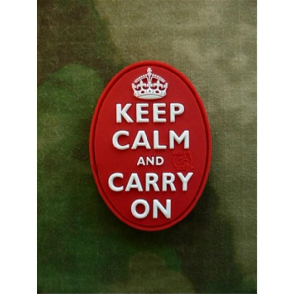 JTG - Oval Keep Calm and Carry On Patch