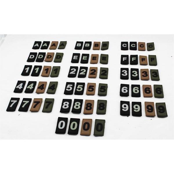 MRBS Rubber ID Patch Identifikation Zahl Nummer - 5 x 2,5 cm